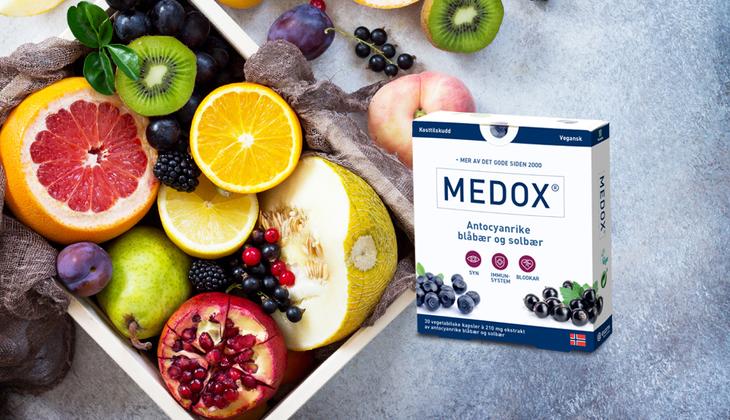 Medox, fruktfat fem om dagen